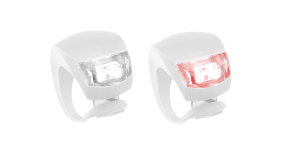Knog Beetle fietsverlichting 1 LED Twinpack, standaard wit